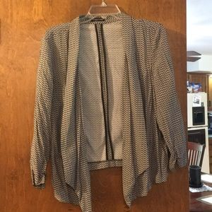 Maurices size 1 black and white blazer